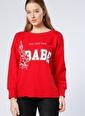 T-Box Sweatshirt Kırmızı